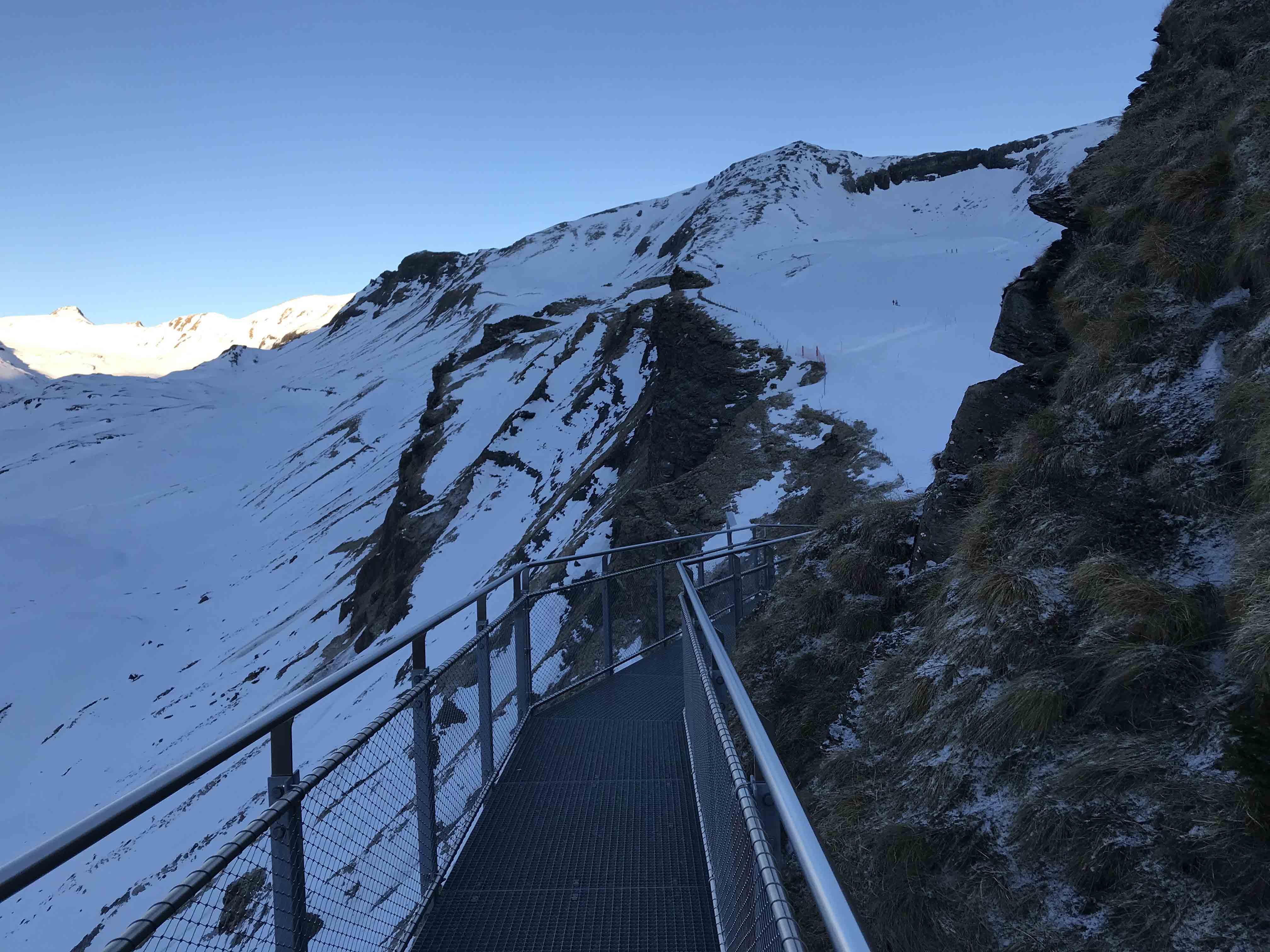 Ferienwohnung Chalet Anemone Grindelwald-First Cliff Walk Aussicht aufs Faulhorn