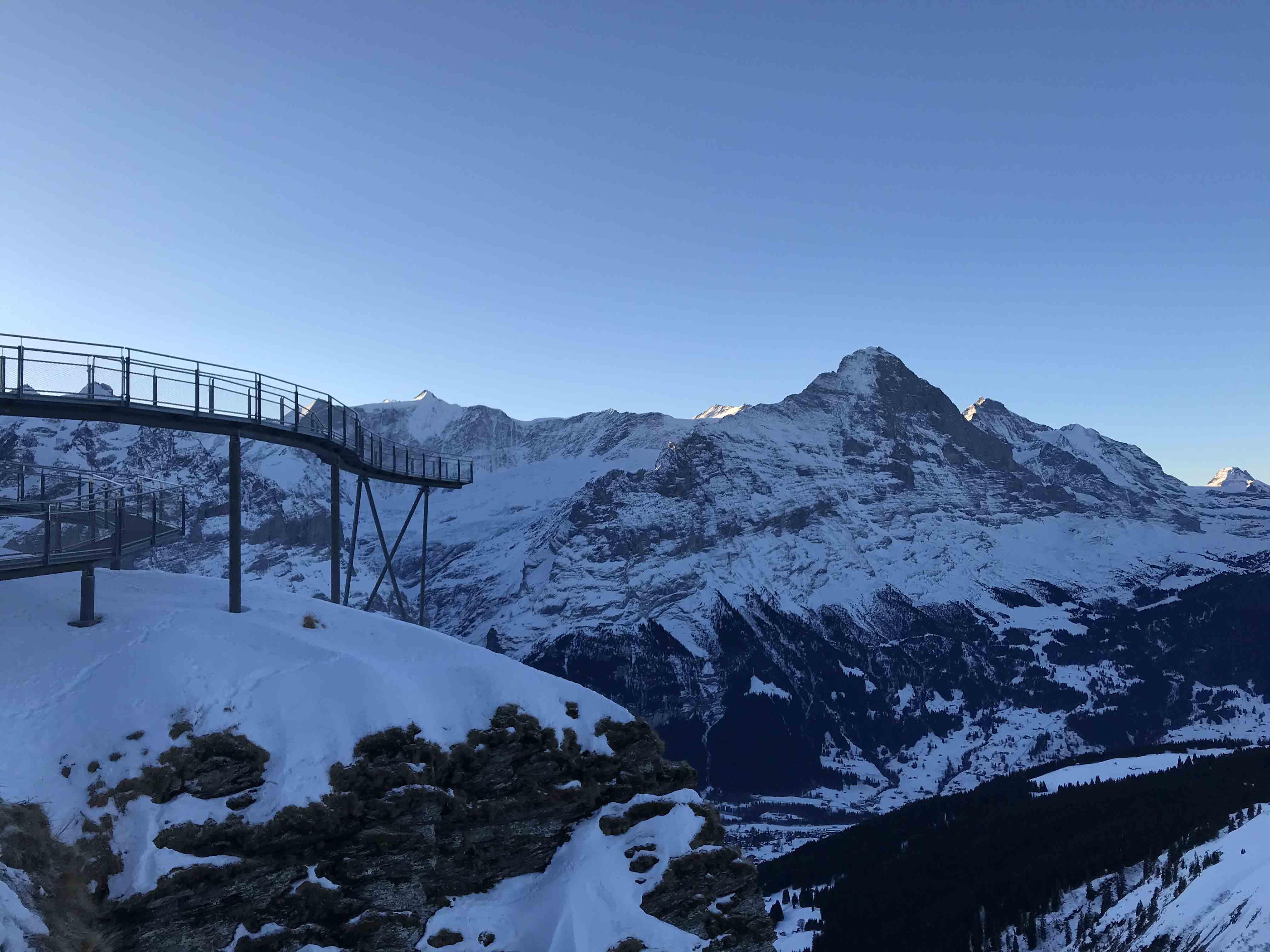 Ferienwohnung Chalet Anemone Grindelwald-First Cliff Walk im Winter