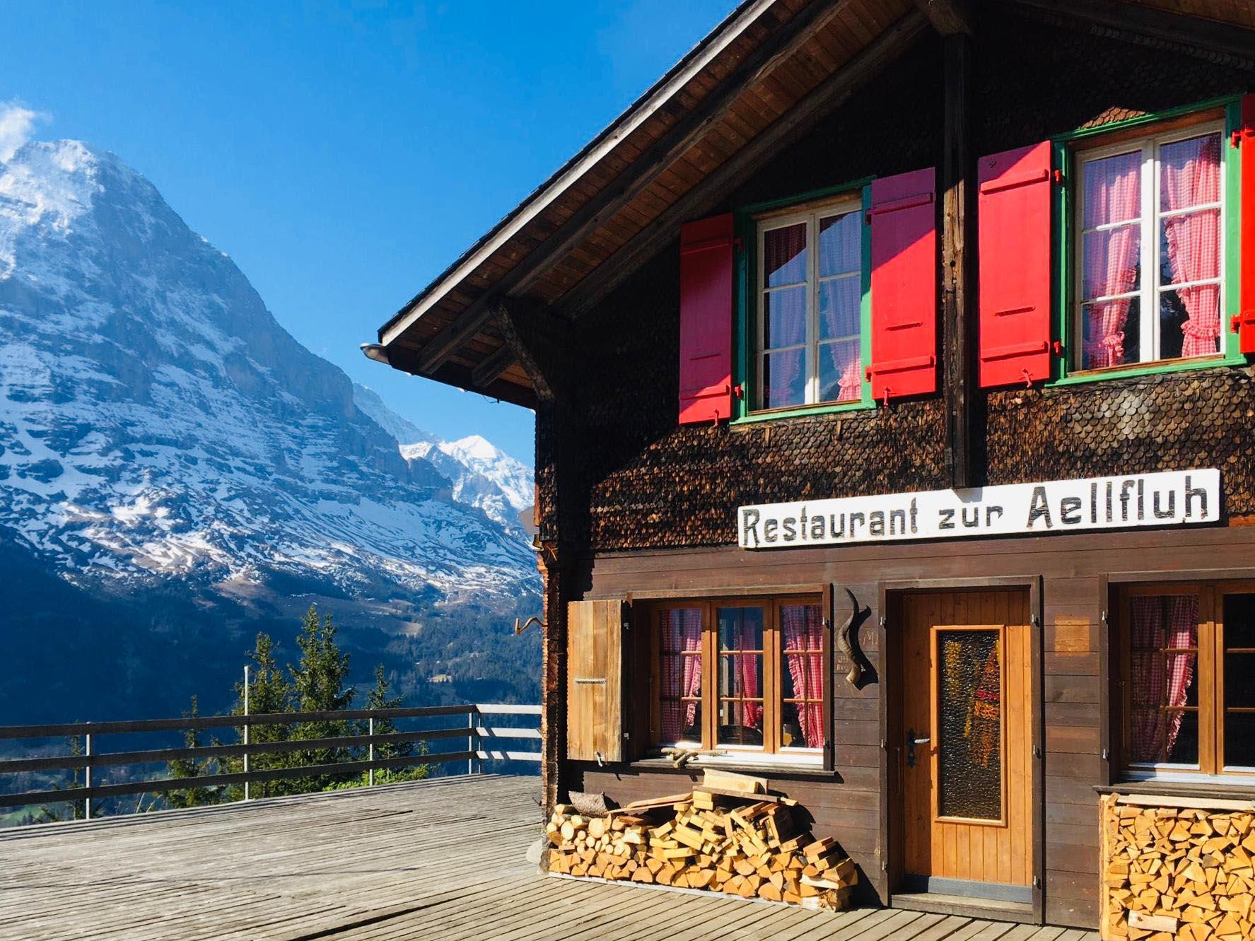 Ferienwohnung Chalet Anemone Grindelwald-Restaurant Aellfluh