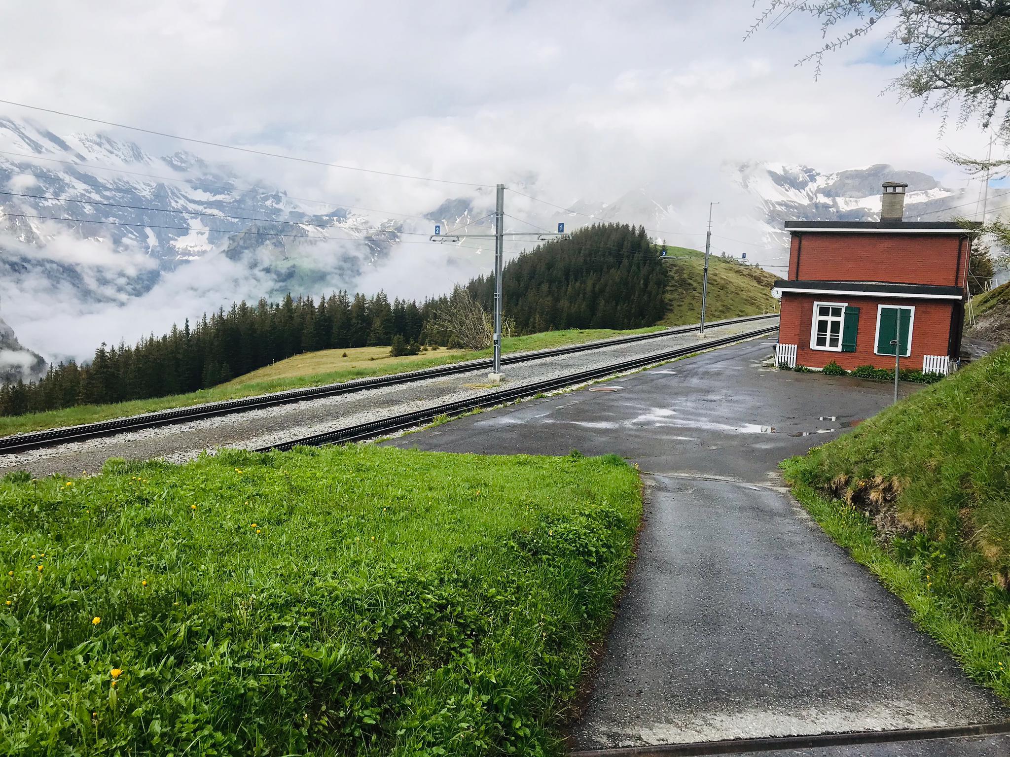 Ferienwohnung Chalet Anemone Grindelwald-Wengernalp Bahnhof Aussicht