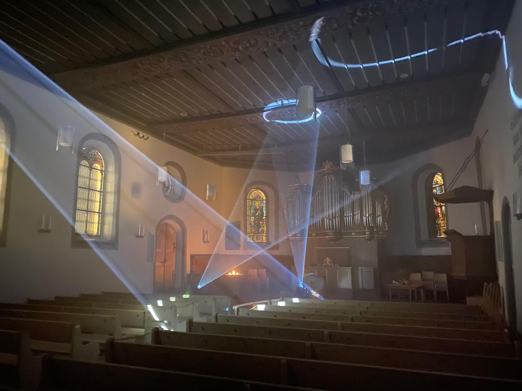 Light Art Festival Chalet Anemone Grindelwald