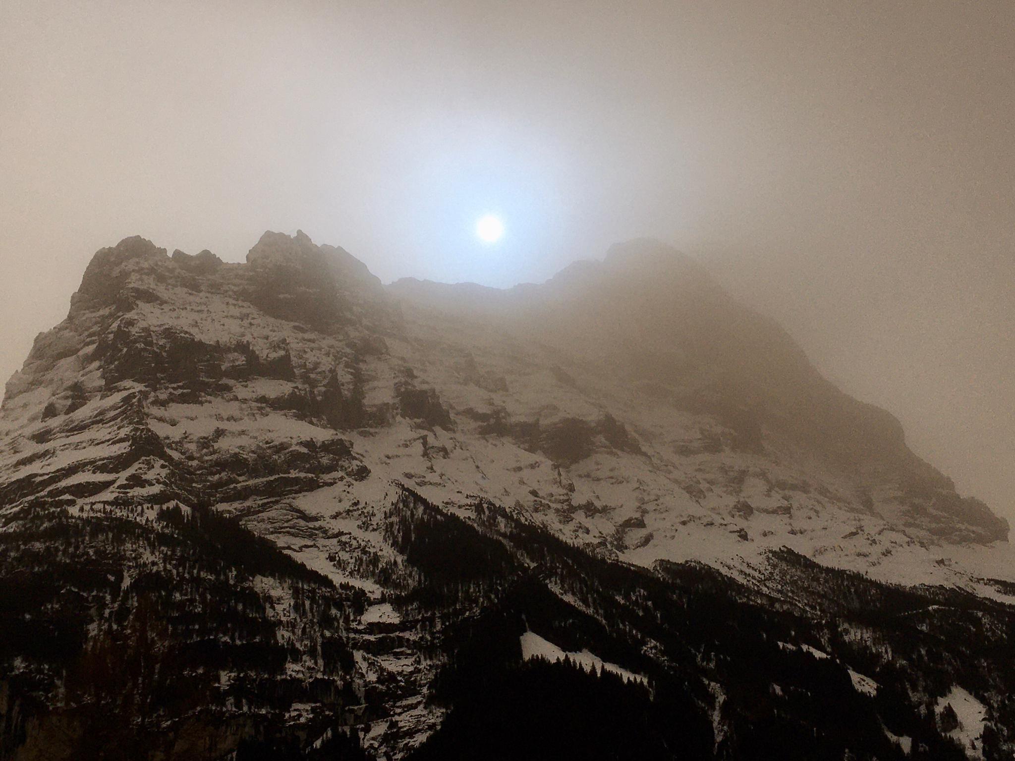 Sahara dust in Grindelwald - Chalet Anemone